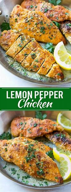 This Recipe For Lemon Pepper Chicken With Butter Sauce Is