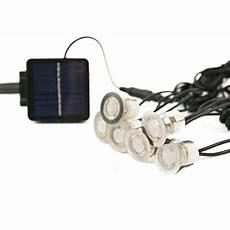lot de 6 mini spots encastrables solaires ultra plats en