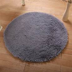 Runder Hochflor Teppich - fluffy rug anti skid shaggy study room home bedroom