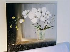 tableau quot mon orchid 233 e blanche quot peinture acrylique