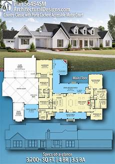 cottage house plans with porte cochere plan 56454sm country classic with porte cochere