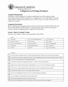 worksheets college level 18228 unv 103 week 5 college level writing worksheet