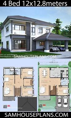 12x12 house plans house plans idea 12x12 8 m with 4 bedrooms planos de