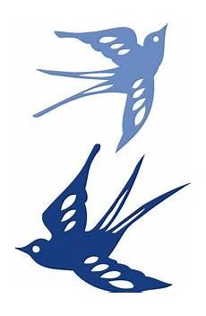 Schwalben Vogel Stempel Silhouette Design Und Tiervorlagen