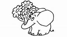 elefant mit blumen ausmalbilder spa 223 mit der maus
