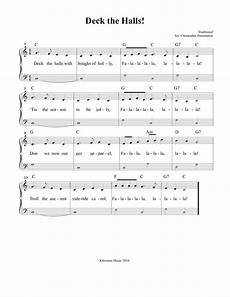 deck the halls sheet music and song for christmas christmas piano music christmas piano