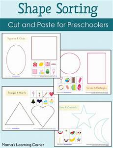 sorting by shape worksheets for kindergarten 7887 shape sorting worksheet packet mamas learning corner