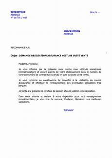 Demande Resiliation Assurance Voiture Suite Vente Doc