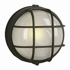 galaxy marine 7 125 in h black outdoor wall light at lowes com