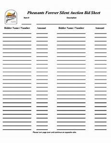 12 silent auction forms template templates assistant