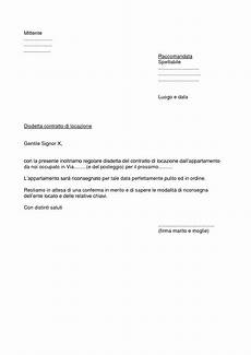 disdetta polizza casa fac simile lettera di recesso contratto di locazione