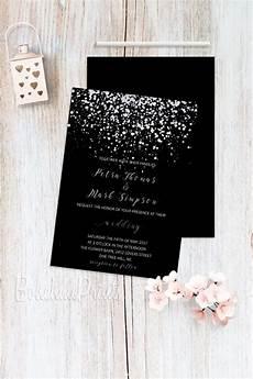 Black And Wedding Invitations