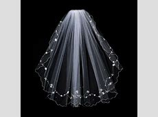 Double Layer Bridal Veil with Floral Pattern & Accents