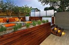 Terrassengestaltung In Zwei Ebenen Terrasse En Bois