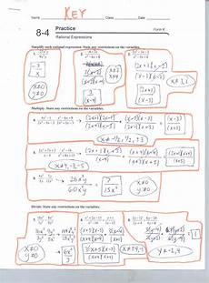 8 6 solving rational equations worksheet form g prentice hall algebra 2 chapter 6 test answers