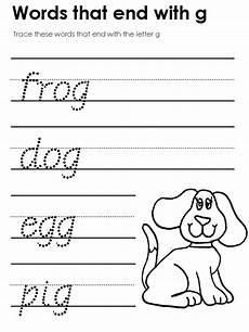 letter writing worksheet for kindergarten 23548 modern manuscript tracers ending consonant sounds