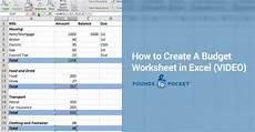 pound place how to create a budget worksheet in excel video