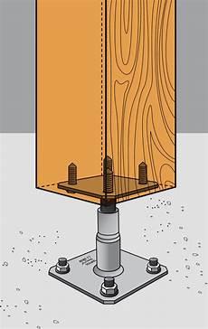 abri en bois 10025 pied de poteau r 233 glable en hauteur idea bois nicolas