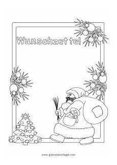 wunschzettel weihnachtsmann gratis malvorlage in spiele