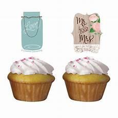 muffins deko muffin deko quot hochzeit im landhaus quot 12 tlg g 252 nstig kaufen