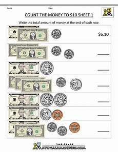 money counting worksheets free printable 2722 count the money to 10 dollar money worksheets counting money worksheets money math