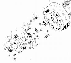 honda ct 70 k3 clutch assembly diagram tear it up fix it repeat ct70 k0 top of the clutch and right cover