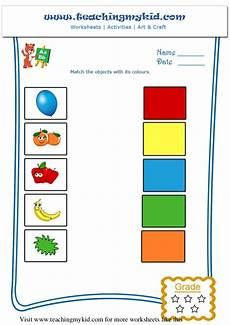 matching worksheets 15552 printable worksheet general knowledge match the objects with its colo