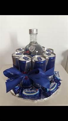 geburtstagsgeschenk vodka 8 bull dosen askartelu