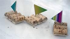 schiffchen aus korken basteln
