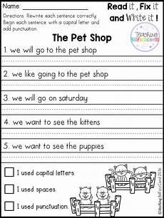 writing question sentences worksheets 22220 free fix it up sentences grade writing kindergarten writing 1st grade writing