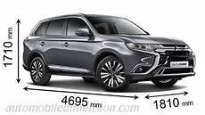 Mitsubishi Outlander Abmessungen - mitsubishi outlander 2019 dimensions boot space and interior