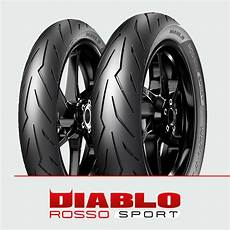 pirelli diablo rosso sport 110 70 17 150 60 17 showpow