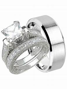 laraso co his and hers wedding ring cheap wedding bands for him and 7 8 walmart com