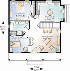 2 bedroom cottage house plan 21255dr architectural