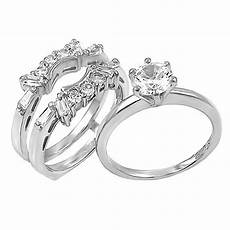 2 0ct simulated diamond cz wedding with ring