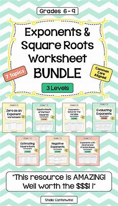 patterns functions and algebra worksheets pdf 442 exponents and square roots worksheet bundle writing expressions math lessons