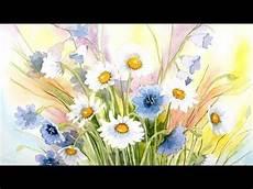Aquarell Blumen Wiesenblumen Watercolor Meadow Flowers
