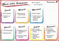 alimentazione settimanale menu settimanale per genitori organizzati 9 aprile