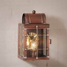small wall lantern in solid copper outdoor
