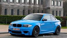 bmw e82 1m coupe in santorini blue