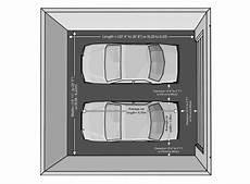 2 car garage dimensions average size two car garage