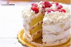 torta con crema pasticcera e panna montata torta con panna e fragole farcita alla crema oggi cucina mirco