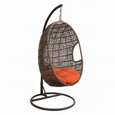 hanging swing brown metal rattan hanging chair swing ebay