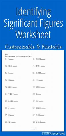 identifying significant figures worksheet customizable and printable worksheets math