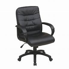 home depot office furniture work smart black faux leather mid back executive office