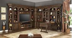 home office furniture wall units the aria library wall unit with peninsula desk office