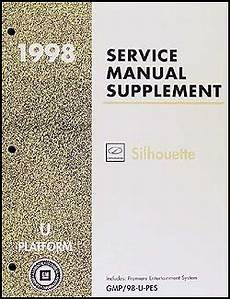 service manuals schematics 1998 oldsmobile silhouette auto manual 1998 olds silhouette premiere entertainment system repair shop manual