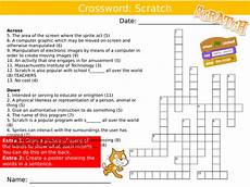 scratch programming crossword ict computing starter