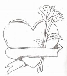 pencil drawings of hearts and roses cliparts co