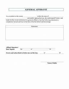 printable general affidavit legal pleading template